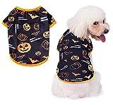 Oslueidy Disfraces de Halloween para Perros,Ropa de Calabaza para Mascotas Pijamas para Perros Ropa Perros para Cachorros Medianos Perros Pequeños Gatos Chihuahua Peluche Bomei(Cabeza de calabaza, XS)