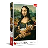 Puzzle Mona Lisa con gato Mruczek 500 piezas Premium Quality (37294)
