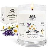 Lavanda y Manzanilla Aromaterapia desodorización vela de la soja para los animales domésticos