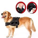 Chaleco arnés Lifepul(TM) para perro, no de tiro, chaleco acolchado, para un confortable control de perros grandes en entrenamiento, no más tirar, ni arrastrar, ni sofocar