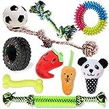 VECELA Juguetes para Perros, 10 Piezas Juguete Masticable para Perros Squeaky Toy Juguetes de Peluche para Cachorros Perro Pequeño Mediano
