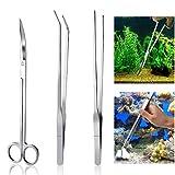Meiso Aquarium Kit Tool Accesorios acero inoxidable Acuario tanque planta de agua Alicates Tijeras Herramientas Set Fish Starter Kit