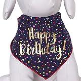 Tail Trends - Bandana Unisex para Perro, 100% algodón, diseño de Feliz cumpleaños