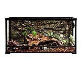 Terrario de cristal para reptiles REPTI ZOO, doble bisagra con ventilación de pantalla, terrario para reptiles de 36 x 18 x 18 pulgadas o 36 x 18 pulgadas x 24 pulgadas (derribado)
