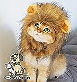OMG Adorables Traje Melena de león para Gatos Suave,Peludo Peluca del Animal doméstico con oídos Lindos Se Adapta a los felinos Adultos y Perros pequeños