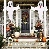 2 pcs fantasma Halloween decoración colgante al aire libre fantasma fantasma fiesta suministros fantasma árbol fantasma decoración exterior patio decoración fantasma Halloween fiesta suministros