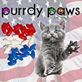 Purrdy Paws - Tapas de uñas para Gatos, tamaño pequeño