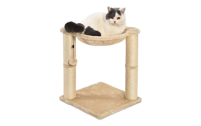 Poste rascador y hamaca para gatos AmazonBasics 1