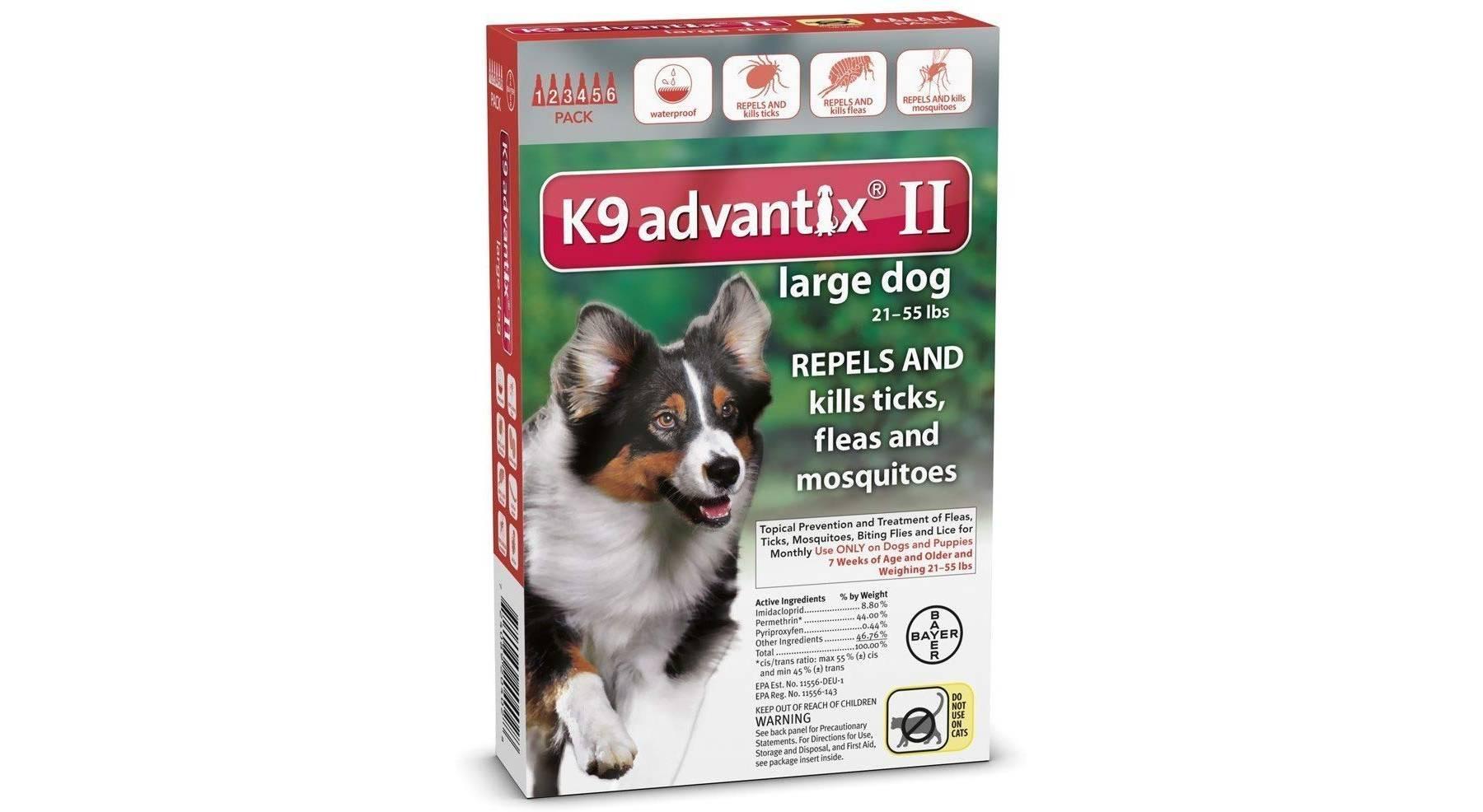K9 Advantix II control de pulgas