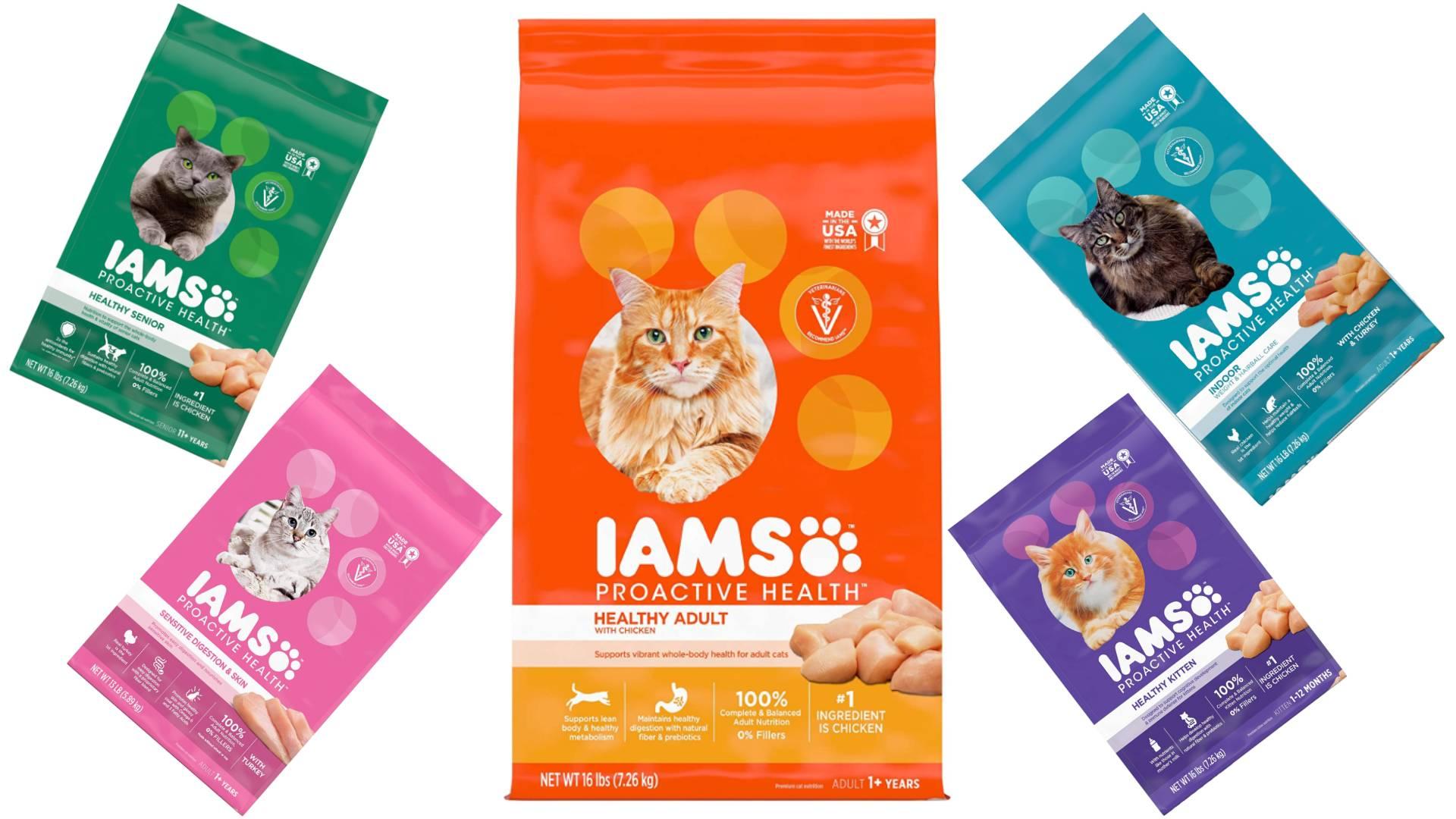 Revisión de la comida para gatos de Iams