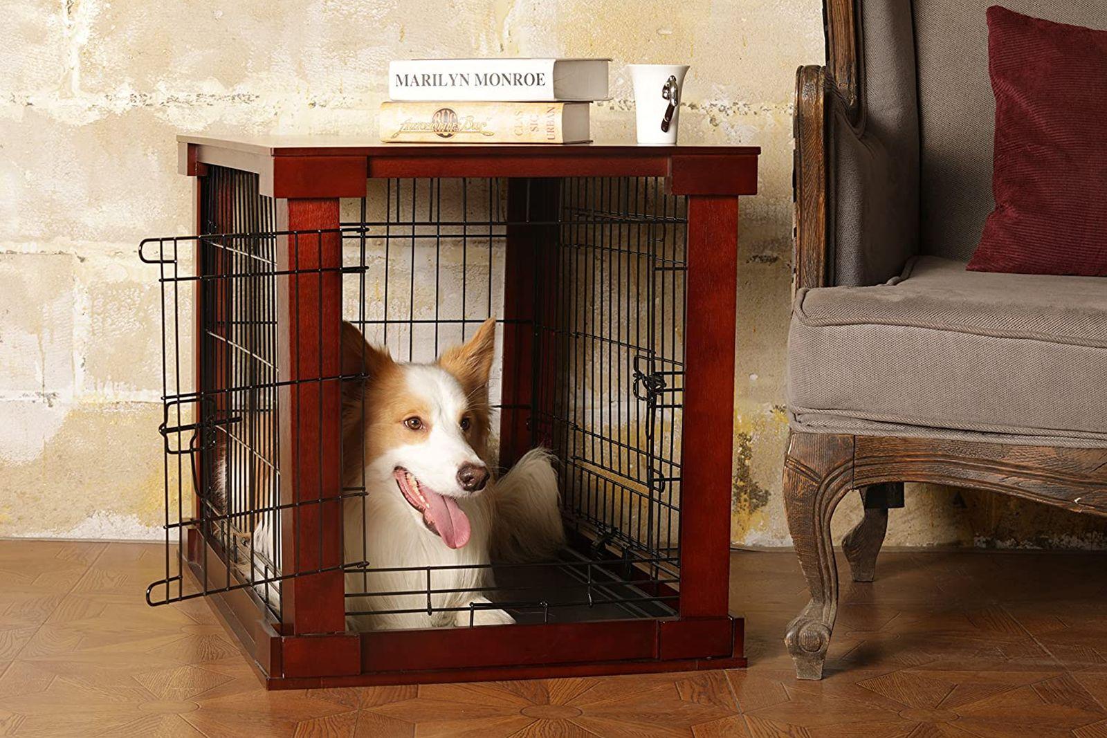 mesas auxiliares jaulas para perros